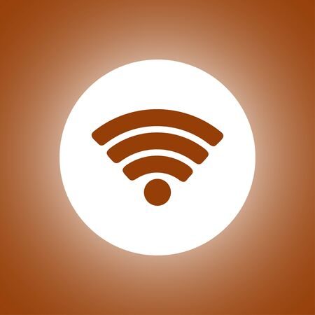 Vector WiFi network icon. Flat design style