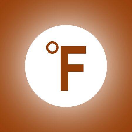 Vector icon Fahrenheit. Flat design style Illustration