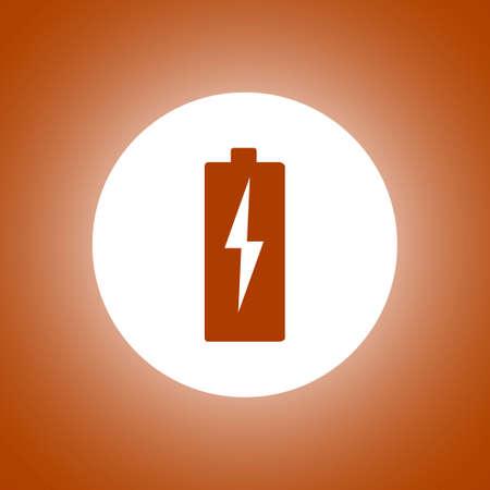 Illustration of Flat Battery Sign Vector Charging Energy Symbol Background