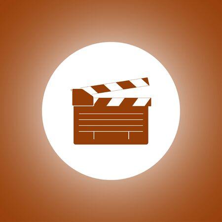 movie clapper board, movie maker vector. Flat design style