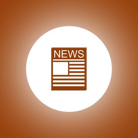 flat: Flat icon of news. Flat design style