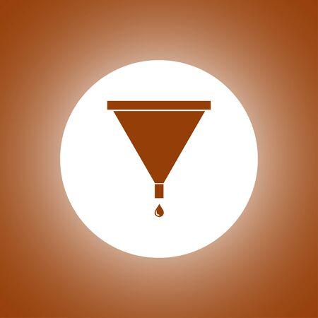adentro y afuera: watewatering pueden icono del vector. estilo de diseño plano