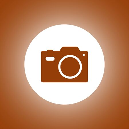 camera - vector icon. Flat design style Illustration