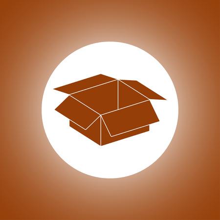 stockpile: box vector illustration. Flat design style