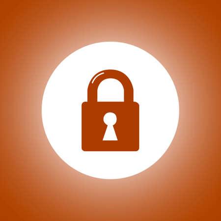 lock icon. Flat design style