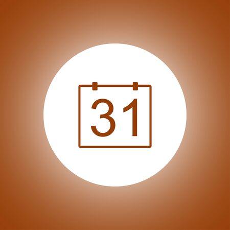 Calendar icon, flat vector illustration.