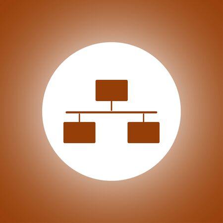 Local area network icon. Flat design style modern vector illustration. Illustration