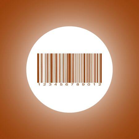 Barcode icon, vector illustration. Flat design style Illustration