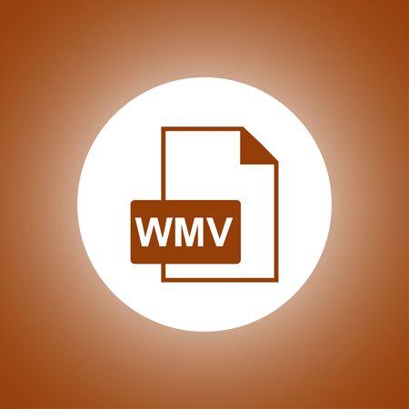 wmv file icon. Flat design style