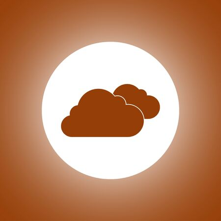 cloud icon, flat vector illustration.