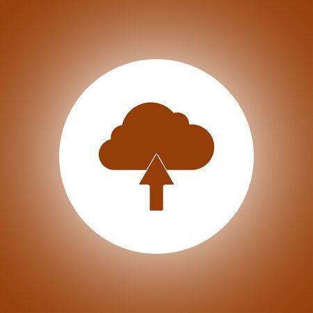 art processing: cloud icon, flat vector illustration.