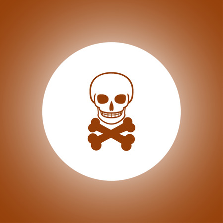 Skull icon isolated. Flat design style