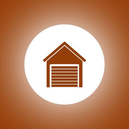 traffic controller: Garage icon. Modern design flat style.