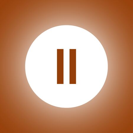 eject icon: pause flat web icon. Flat design style Illustration