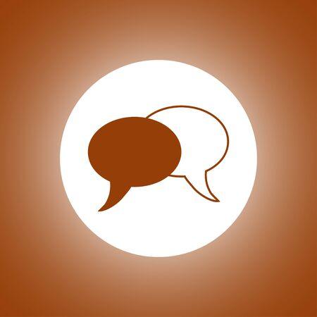 html5: Speech bubbles icon. vector illustration
