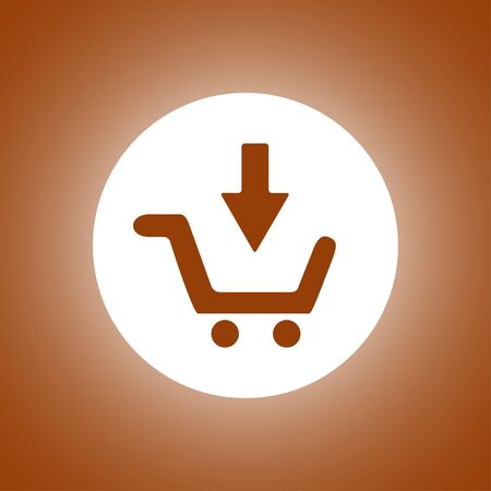 shopping cart icon: shopping cart Flat Icon. Vector