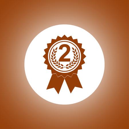 medallion: Vector medallion icon. Flat design style