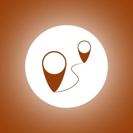 aim: Map pointer flat icon, vector illustration. Flat design style. Illustration
