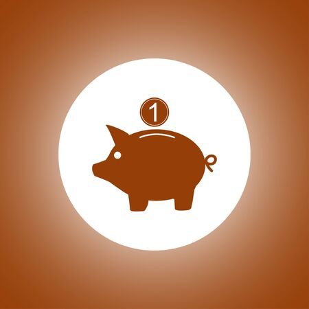 Vector piggy bank icon. Flat Vector illustration