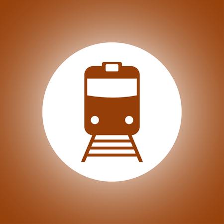 Train icon, isolated vector illustration