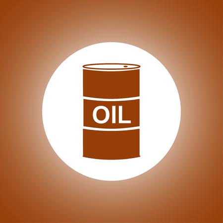 stock listing: Vector icon barrels of oil. Flat illustration Illustration