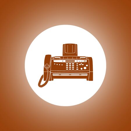facsimile: Fax machine icon, vector  illustration