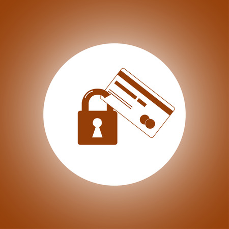 Credit Card Security icon. Vector Illustration