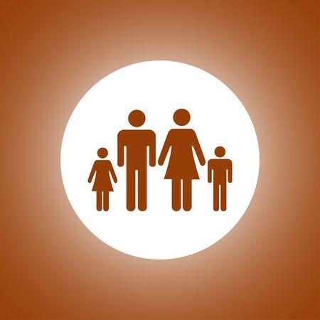 matrimonial: family icon. Flat design style