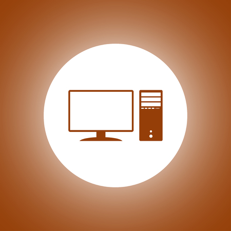 Computer icon. Flat design style