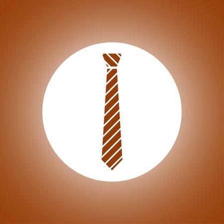 Simple icon tie. Flat design style