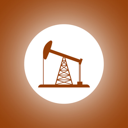 fracking: Oil Rig Icon. Flat design style