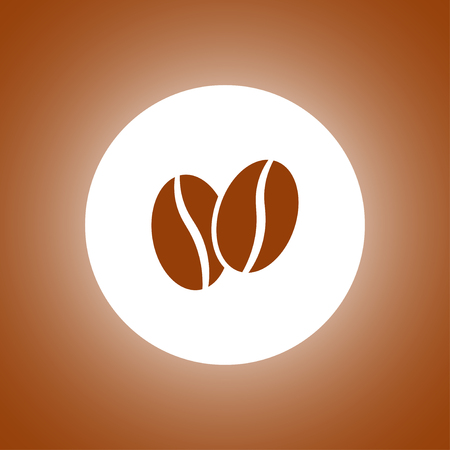 Coffee bean. Flat design style Illustration