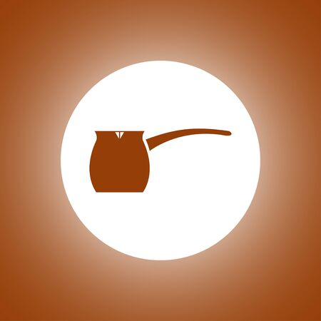 vector kettle icon. Flat design style