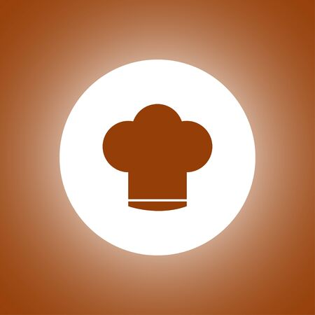 replaceable: Chef cap vector icon. Flat design style
