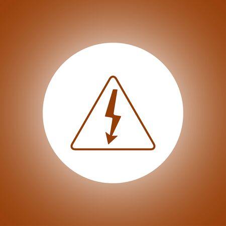 High voltage - Vector illustration. Flat design style