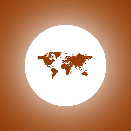 topografia: Mapa del mundo ilustración. estilo de diseño plano