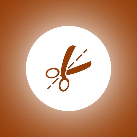 Scissors icon. Flat design style Illustration