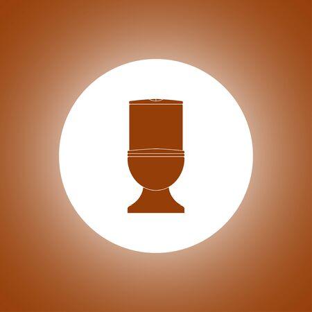 Toilet icon. Flat design style
