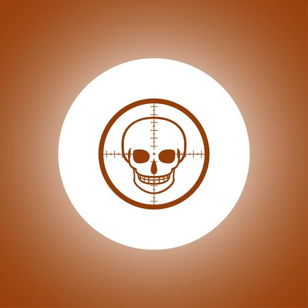 sniper: Illustration of a crosshair icon with a skull