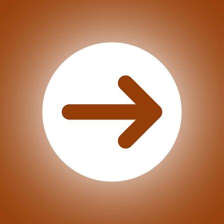 Vector icon arrow. Flat design style Illustration