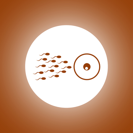 Sperm and egg cells thin line icon for web and mobile minimalistic flat design. Vectores