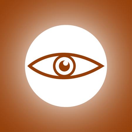 Eye icon. Flat design style Illustration