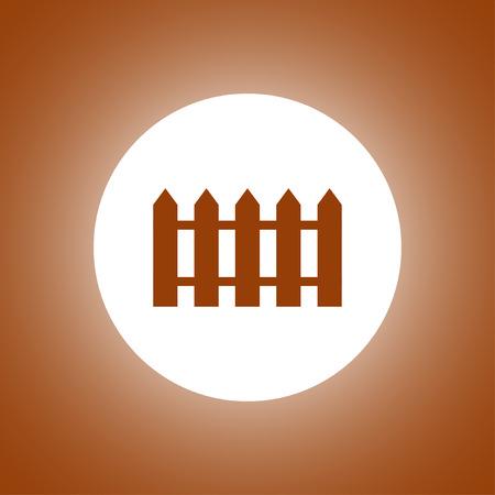 fence icon. Flat design style