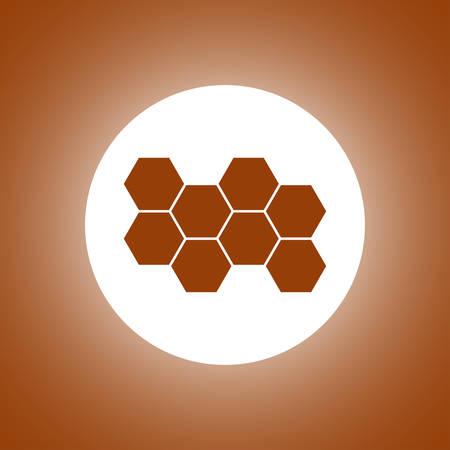Honeycomb sign icon. Honey cells symbol. Flat design style Illustration