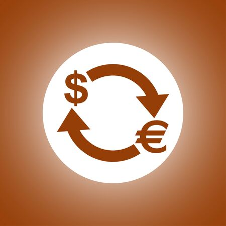 Money convert icon. Euro Dollar. Flat design style