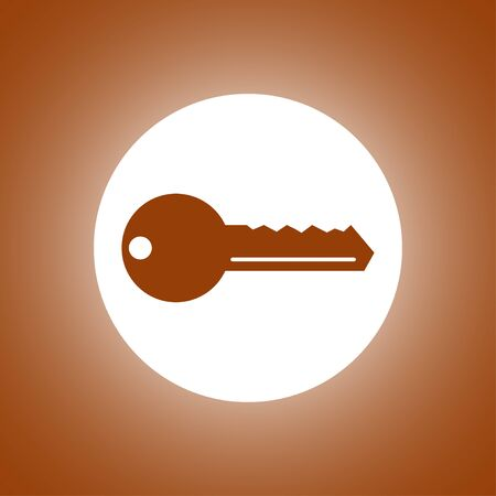 unblock: Key vector icon. Flat design style