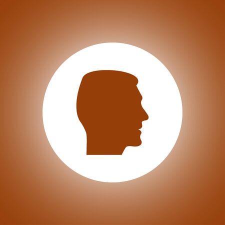head icon. Flat design vector style. Illustration