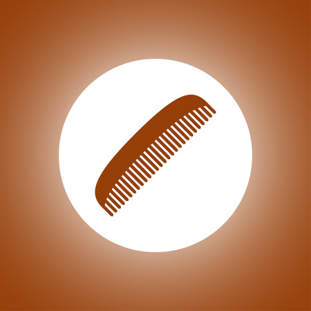 haircutting: comb vector icon. Design style