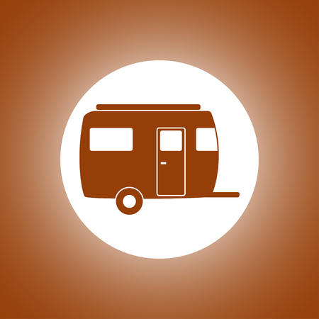 coupling: camping trailer vector icon Design style