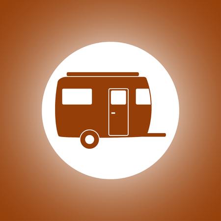 camping trailer vector icon Design style